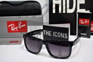 Authentic Ray Ban Justin RB4165 622/8G Gradient Polarized 54MM