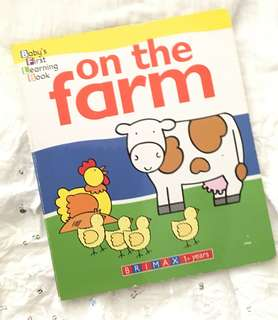 Charity Sale! On the Farm by Brimax  Baby's First Learning Book