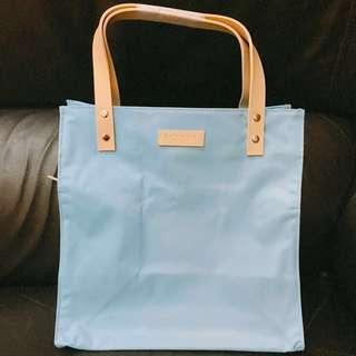 Biotherm 淺藍色手挽袋 Cyan carry bag