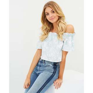 Floral Off Shoulder in Mint
