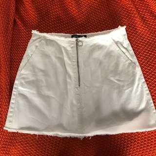 Glassons white demin skirt
