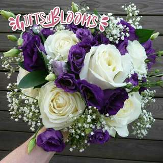 Fresh Flower Bouquet Surprise for Special Anniversary Birthday Gift V35 - OBHMK