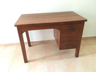 Solid wood writing table