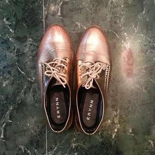 Rose gold shoes/ boots/ ankle boots(?)