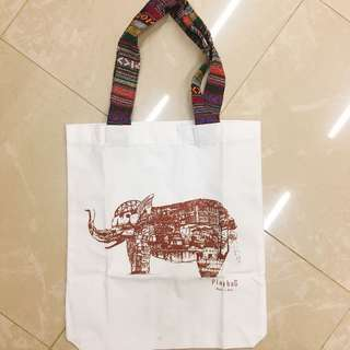 全新泰國製大象 tote bag (made in Thailand)