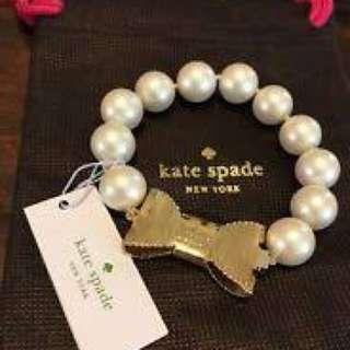 Kate spade O0RU1740 金色蝴蝶配珍珠手鏈