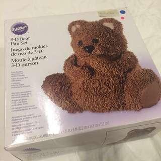 Wilton 3d bear cake pan cake tin