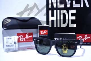 Authentic Ray Ban Wayfarer Classic RB2140 901 Black 54MM Large Asian Fit.