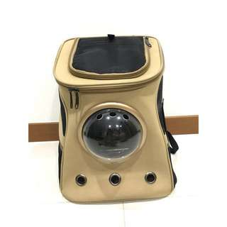 Astronaut / Capsule Pet Carrier (Khaki Color) (Large)