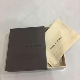 Louis Vuitton empty wallet box 12.5cm x 3.5cm x 14.5cm