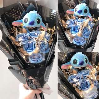 🔥CLEARANCE SALE🔥FAIRY LED LIGHT STITCH SOAP ROSE BOUQUET