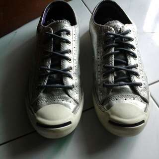 Sepatu converse brogue metalic jp leather limited