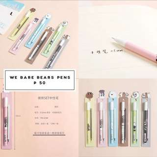 We Bare Bears Gel Pens