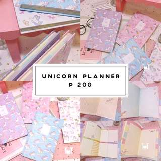 Unicorn Notebook Planner