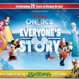 Turtle Boat OnStage with Cast for 1 Kid + 2 CAT 1 Disney On Ice Tickets