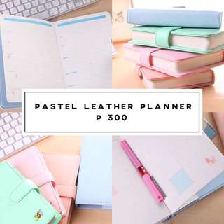 Pastel Leather Planner