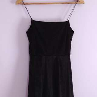 UO short velvet dress