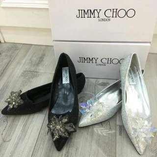 Jimmy Choo Attila Pointy Crystal