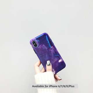 (PO) Purple Starry Galaxy Night Mobile Phone Casing