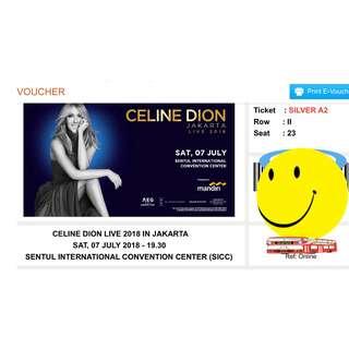 E-Voucher tiket Celine dion