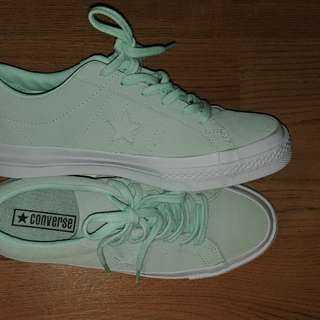 converse one star mint size 7