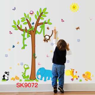Tree Animals Wall Decal Sticker