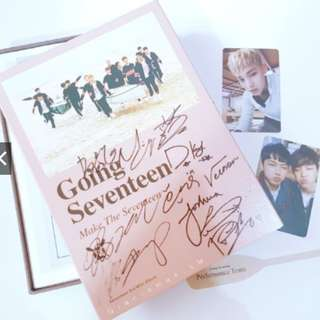 ON HAND SEVENTEEN SIGNED - Going Seventeen MAKE THE SEVENTEEN