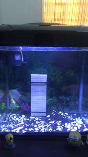 Aquarium for sale with LED light angelfish pair included. For Pick up. Location: Las Piñas