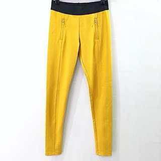 Giordano Dark Yellow Slim Fit Stretch Pants
