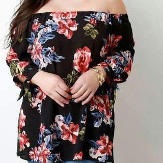 Off Shoulder Plus Size Tops