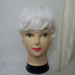 Male Short White Wig