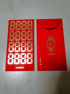Rare Casio watch ang pow, Brand New in plastic packs, 2018 Casio red Packets Or Ang pows collectors item limited edition no more issue
