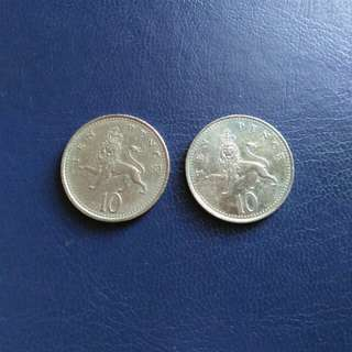 British 10 Pence 1992 / 2000