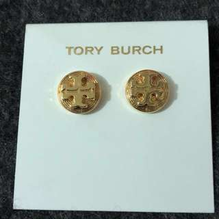 Tory Burch Earrings 金色耳環復古 連盒和塵袋