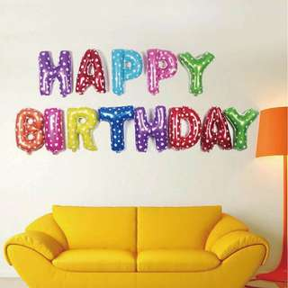 """HAPPY BIRTHDAY"" 16-Inch Foil Balloons"