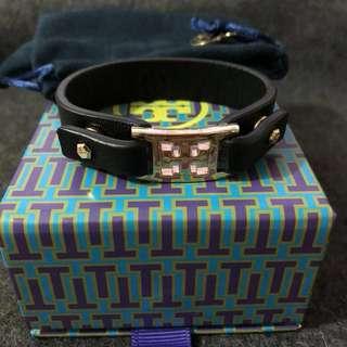Tory Burch Leather Bracelet 皮革手帶 連盒和塵袋