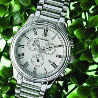 價值$2380 Sarelle Viaggio Pilot 休閒系列 GE470腕表(銀色) 全新有盒 平售