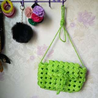 Sling Bag Made In Straw