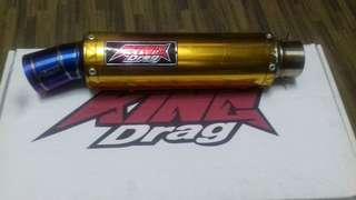 Ekzos king drag untuk Lc135..piston saiz 62mm-66mm