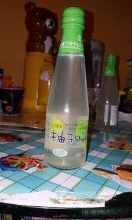 日本山口県產白雪柚子有氣果汁酒210ml 飲用時要加冰加水