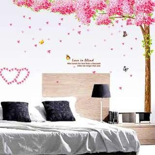 Sakura Cherry Blossom Tree Double Sheets Wall Decal Sticker