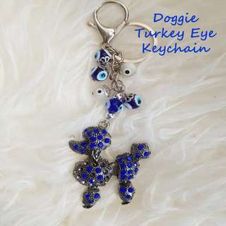 Doggie Turkey Eye Keychain