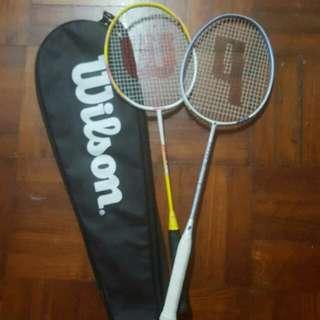 Prince and wilson rackets