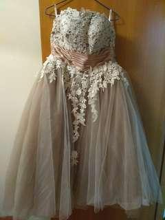 晚裝裙tube dress