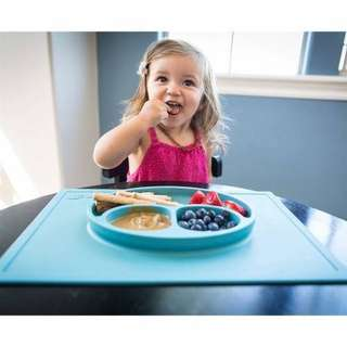 Sticky No Mess Sillicone Baby Placemat + Plate in 1(Rectangular Large)