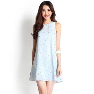 Spur of the Moment Dress in Sky Print