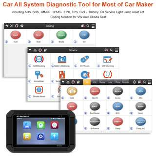 Scanner Smart Car Diagnostic Tool OBD Code Reader ABS + EPB + CVT + TMPS Change + Oil Service Resetting Tool