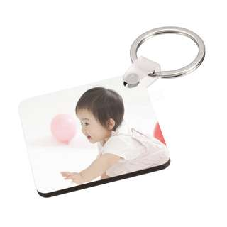 Customized MDF Photo Square Keychain