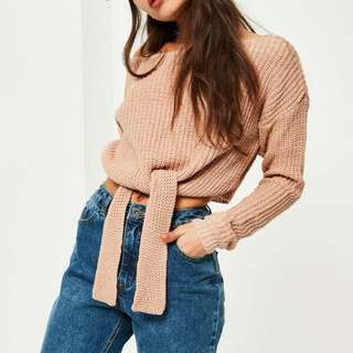 Missguided Tie-front Sweater