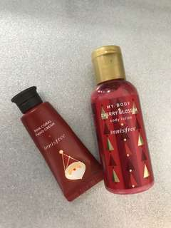 Innisfree Body Lotion and Hand Cream Set